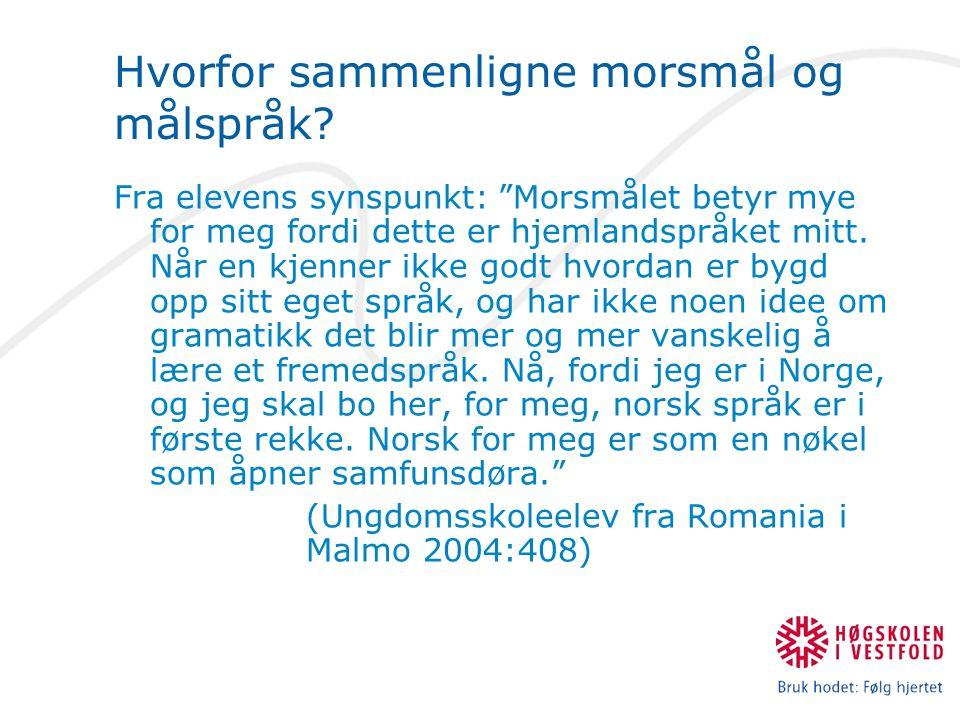 Norsk er svakt syntetisk, hvorfor.
