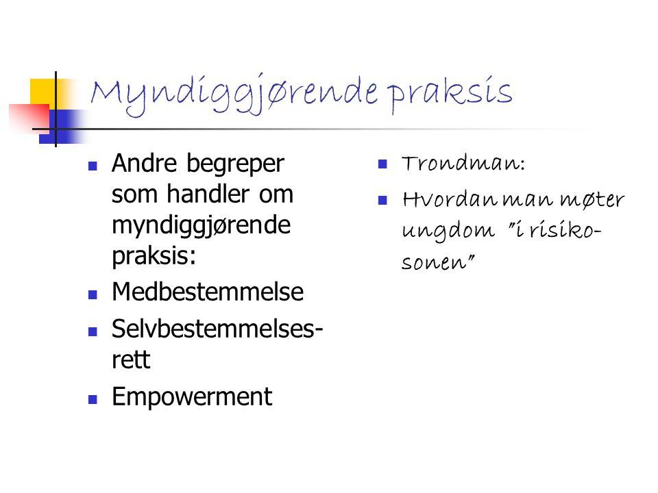 MARGINALISERING Stigmatisering Risikosoner Skoleavhopping Liten organisasjonstilknytning Kontekstavhengig (sted, tid, miljø, sosial tetthet, konjunkturer m.v.)