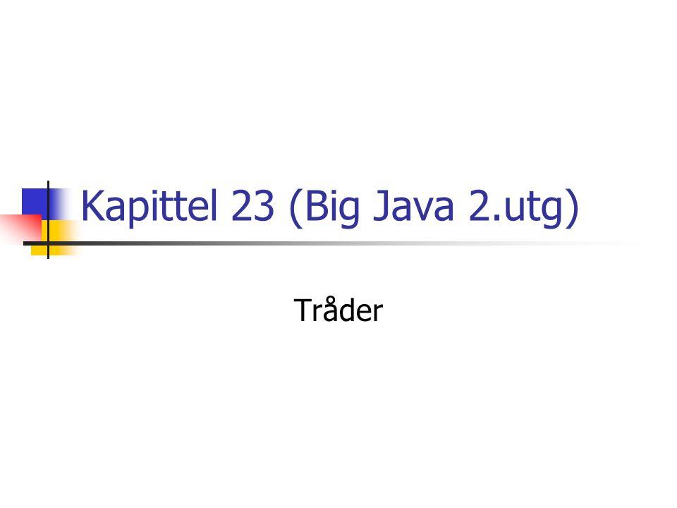 Kapittel 23 (Big Java 2.utg) Tråder