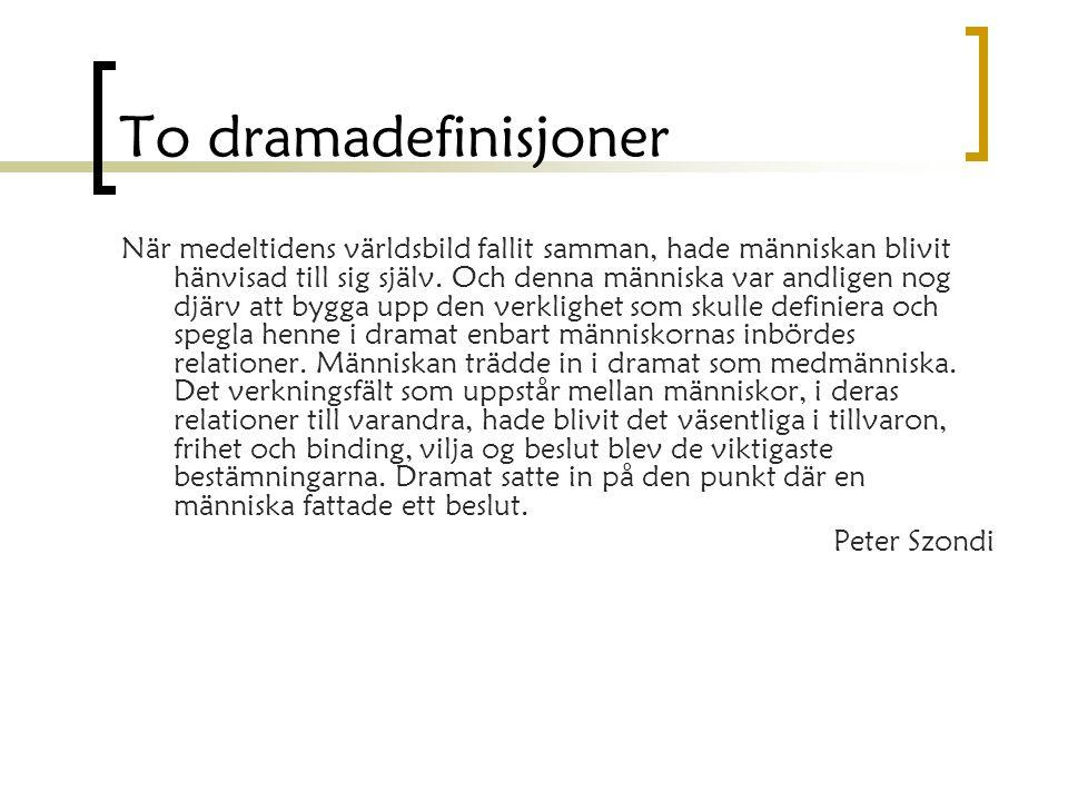 Komposisjon Handling Komposisjon Tid og sted Femakterprinsippet  Eksposisjon – 1.