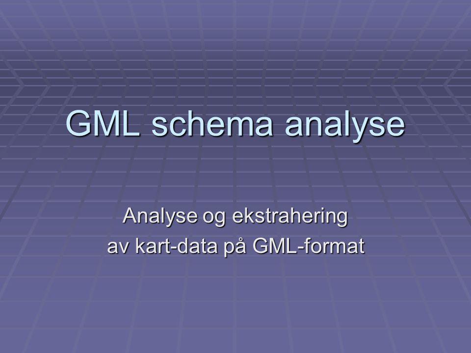 GML schema analyse Analyse og ekstrahering av kart-data på GML-format
