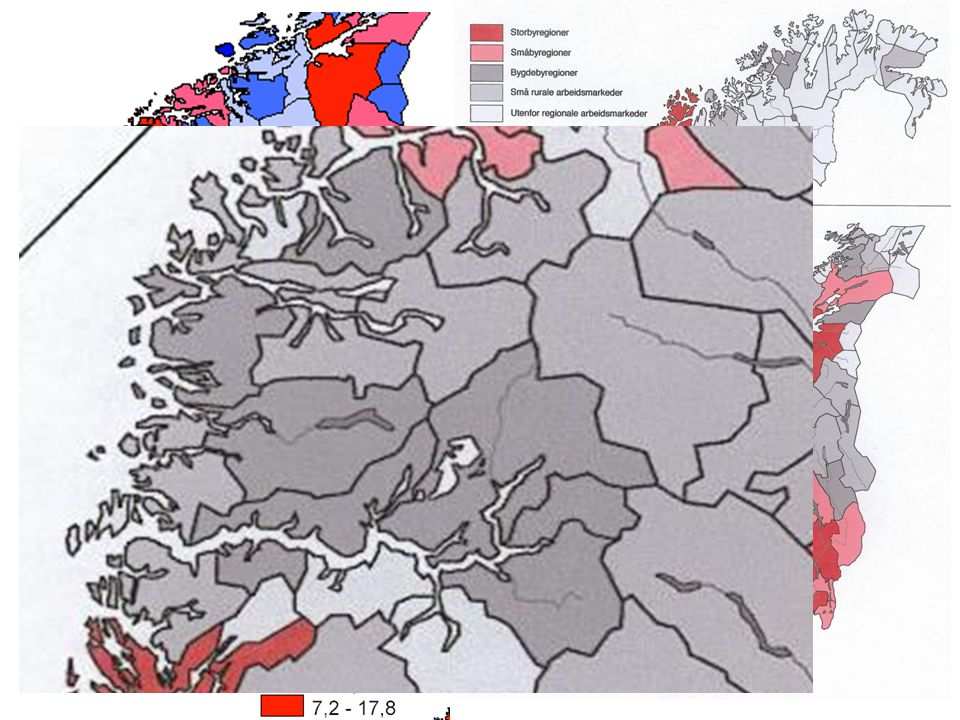 Vestlandet og resten av Norge (-V)