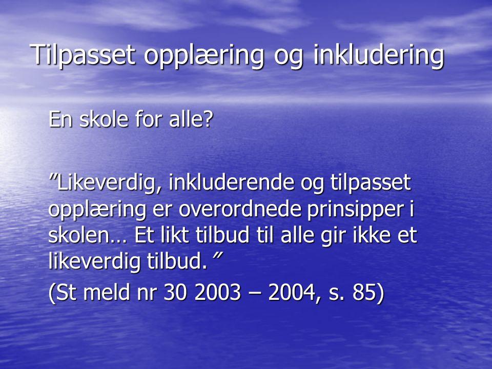 Ulikhetsdimensjonen - Det har oppstått et nytt dillemma mellom tilpasset opplæring og de nasjonale prøver i norsk, matematikk og engelsk.