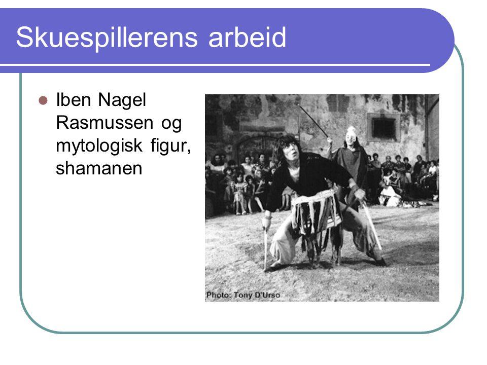 Skuespillerens arbeid Iben Nagel Rasmussen og mytologisk figur, shamanen
