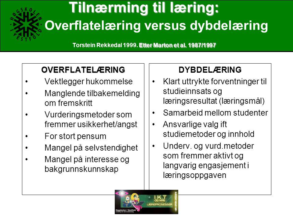 Tilnærming til læring: Etter Marton et al.