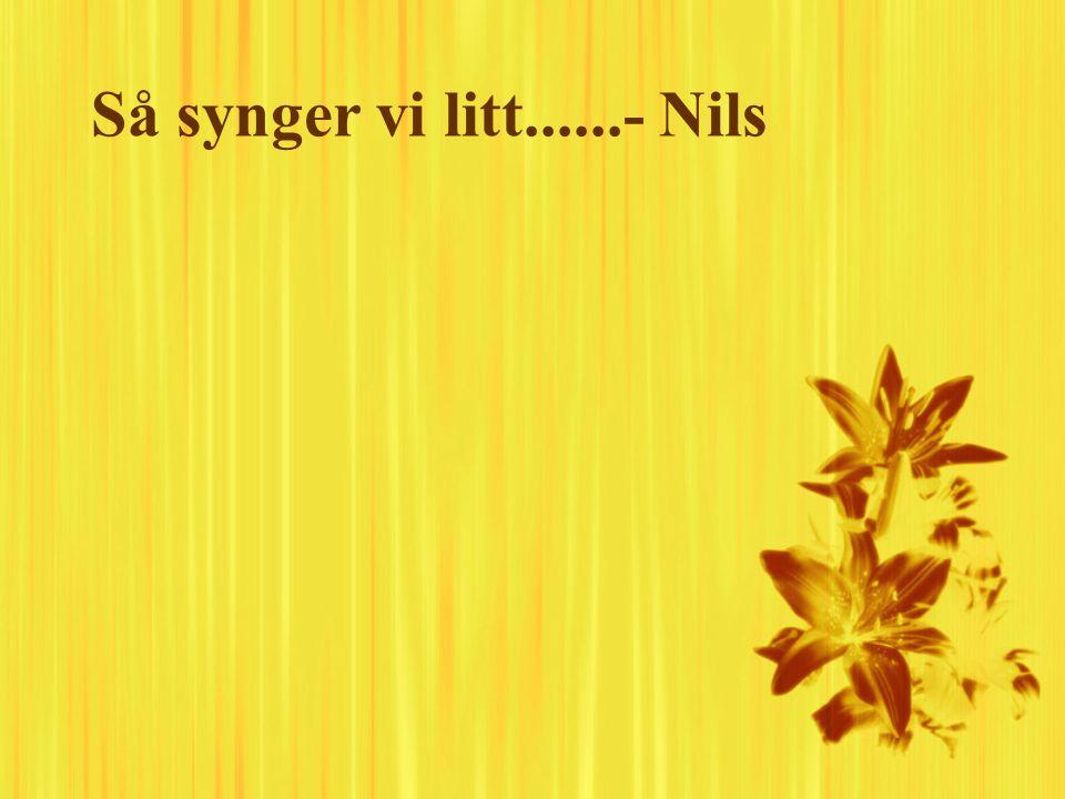Så synger vi litt......- Nils