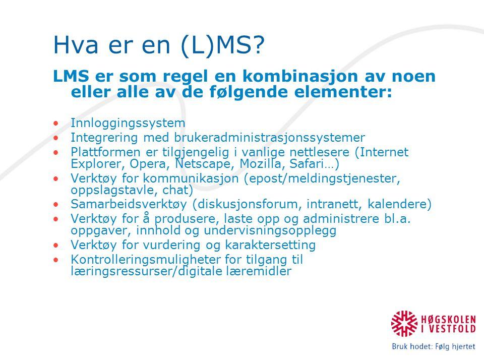 Hva sier markedsføringen om LMS.