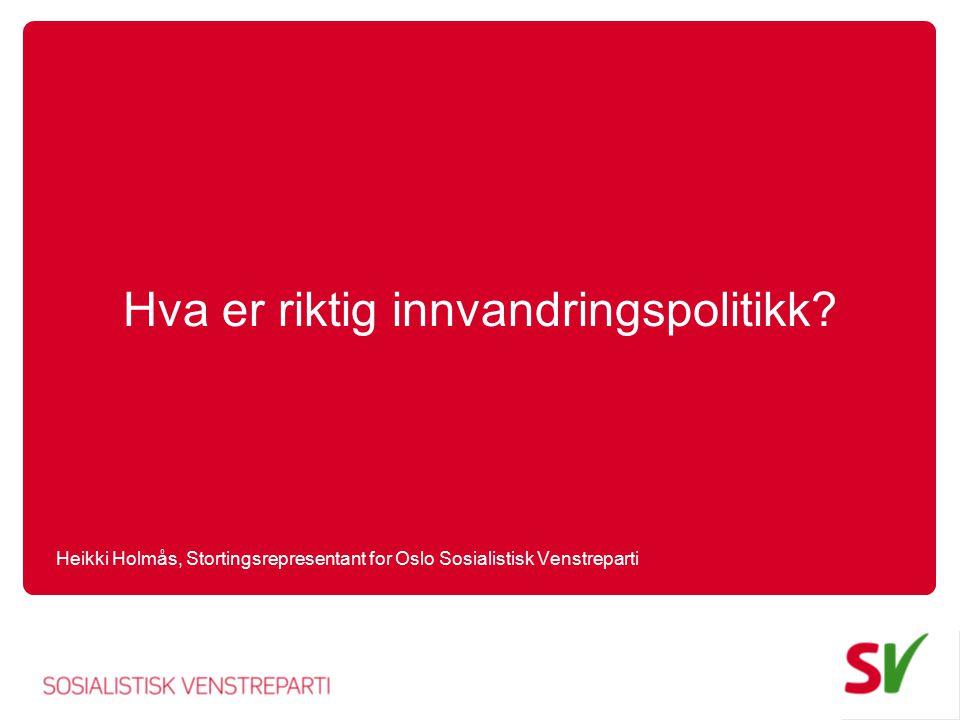 Utdanningsinnvandringsdilemmaer Gi andre folk like store muligheter til å komme til Norge som vi har til å dra ut samtidig som vi hindrer at utdanningsinnvandringsorganisering blir er marked for kriminelle og sikrer at folk er i stand til å klare seg selv.