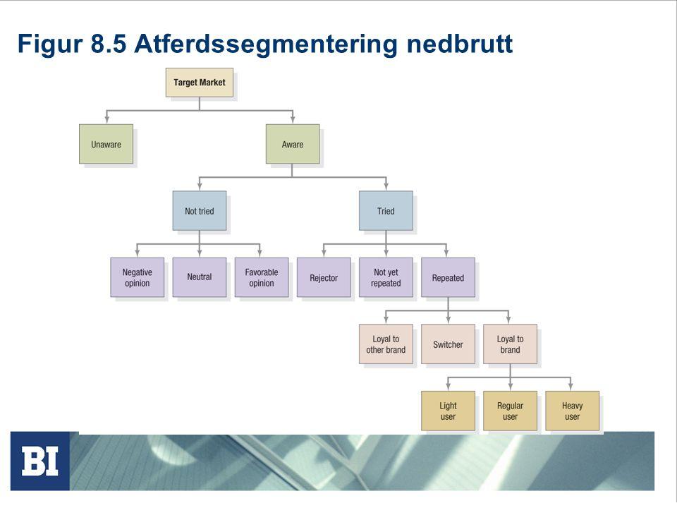 Kriterier for effektiv segmentering.