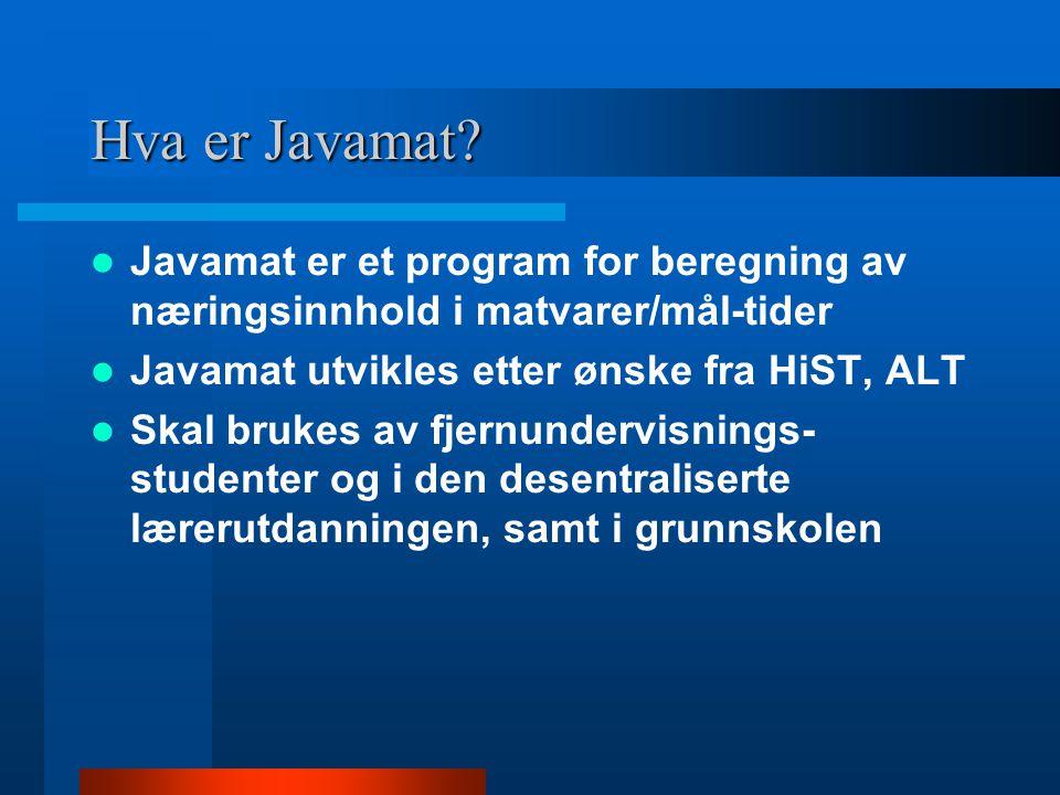 Hva er Javamat.