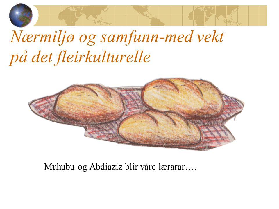 Nærmiljø og samfunn-med vekt på det fleirkulturelle Muhubu og Abdiaziz blir våre lærarar….