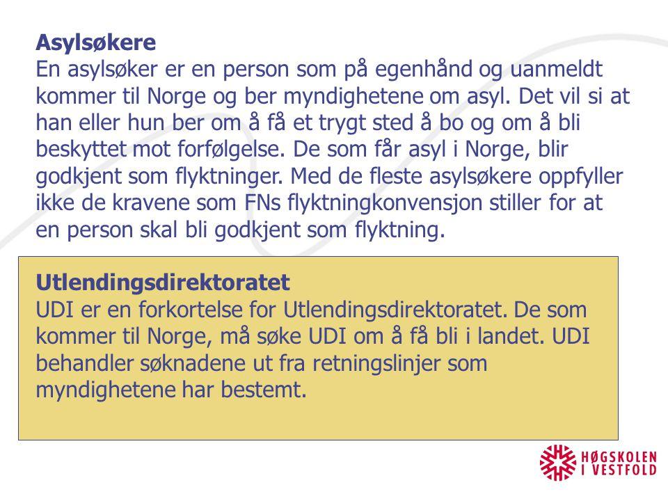 Asylsøkere En asylsøker er en person som på egenhånd og uanmeldt kommer til Norge og ber myndighetene om asyl. Det vil si at han eller hun ber om å få