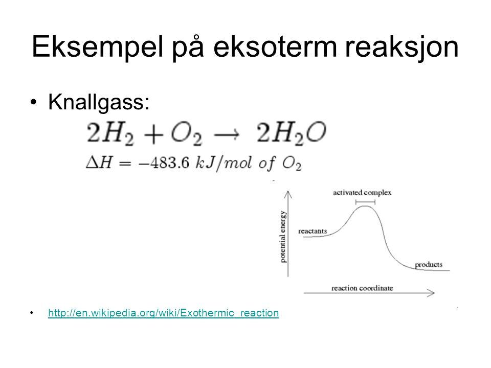 Oksydasjonsmiddel Stoff som kan oksydere andre kjemiske forbindelser Er ofte forbindelser med høyt oksygeninnhold.