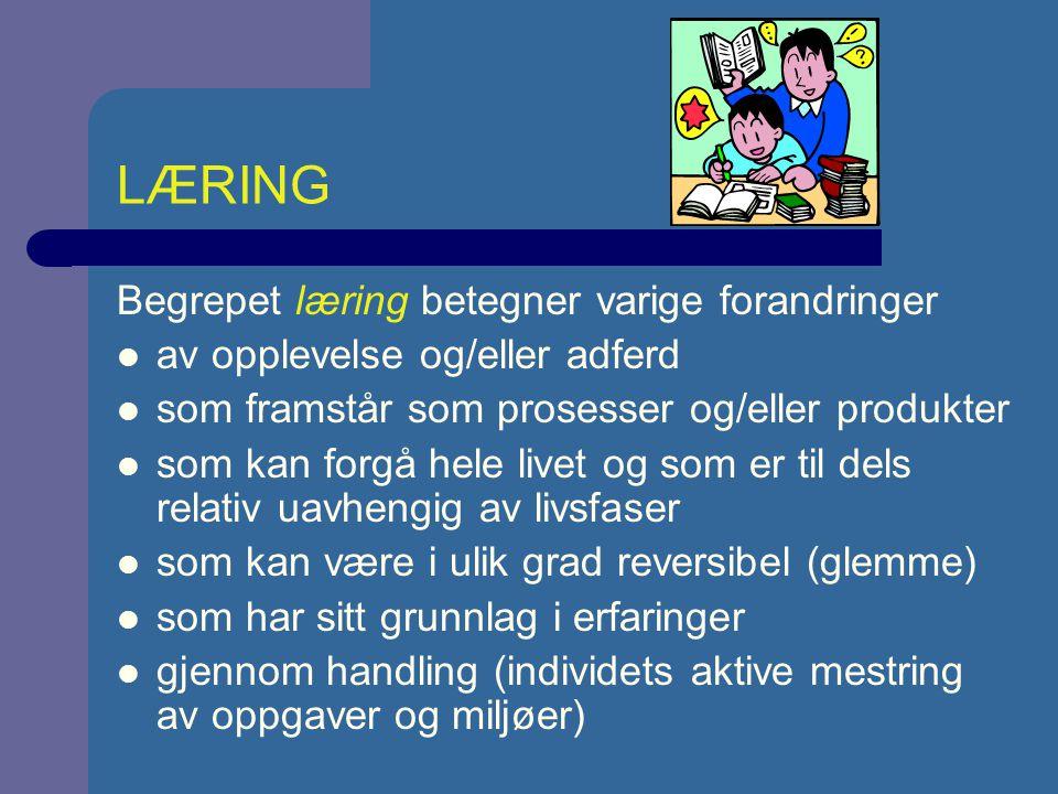 UTVIKLING OG/ELLER LÆRING.