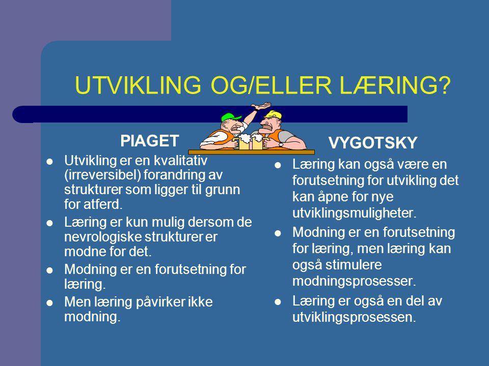 UTVIKLING – EN KONTINUERLIG ELLER DISKONTINUERLIG PROSESS.
