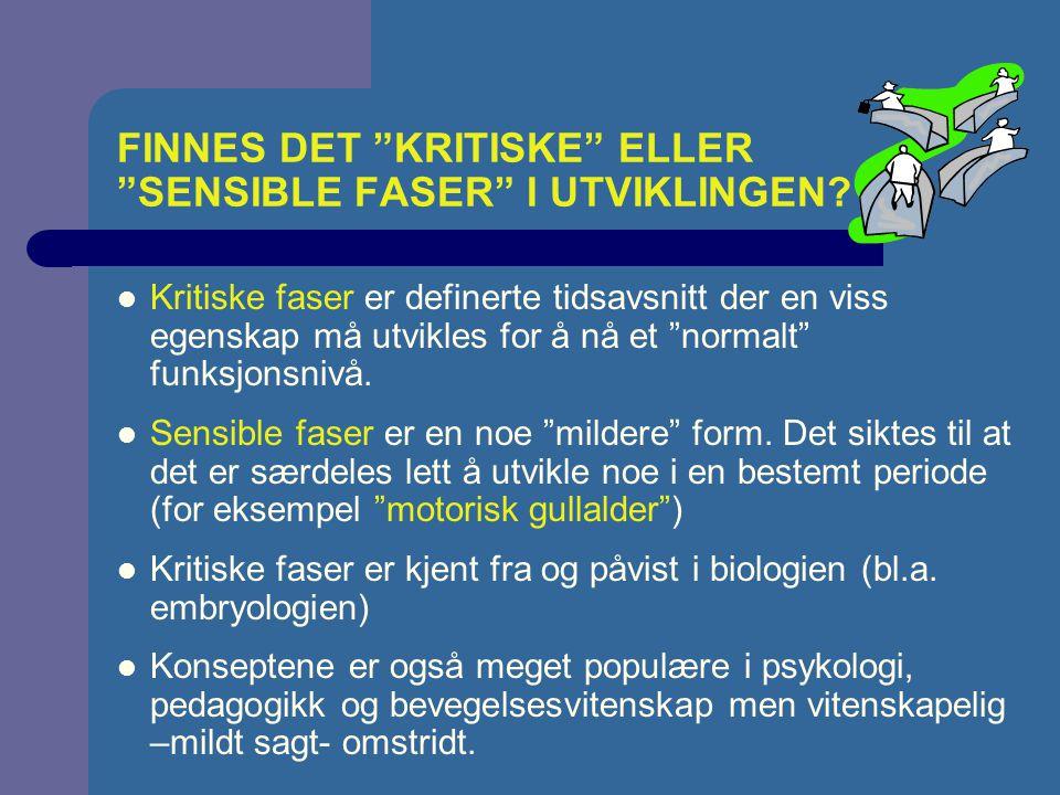 FAKTORER SOM PÅVIRKER UTVIKLING Moser (2000)