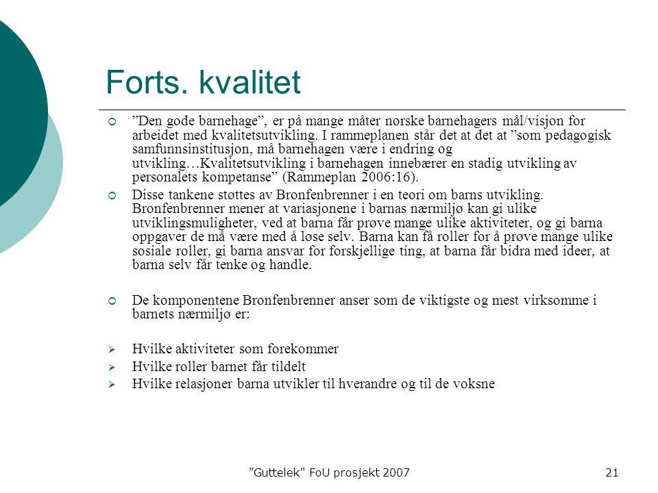 Guttelek FoU prosjekt 200721 Forts.