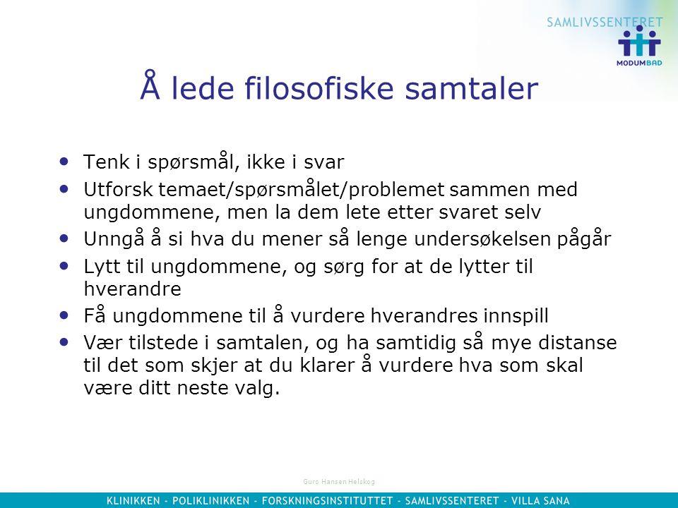 Guro Hansen Helskog Grep du kan bruke forts…  Avbryte innspill underveis fordi de ikke svarer på spørsmålet, ikke holder seg til temaet eller blir fo