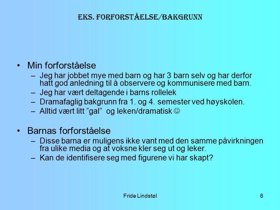 Fride Lindstøl17 sirkel Spiral Gjentagelse Legge ut notater/skisser Veiledning Samtale – hva/hvorfor LYKKES?
