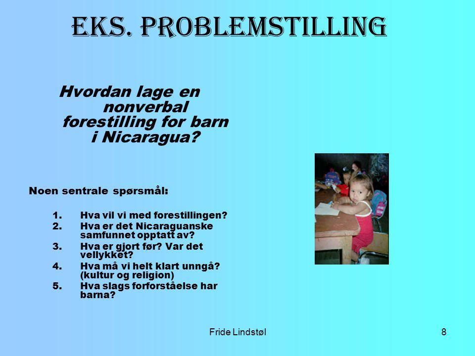 Fride Lindstøl9 Eks Problemstilling.
