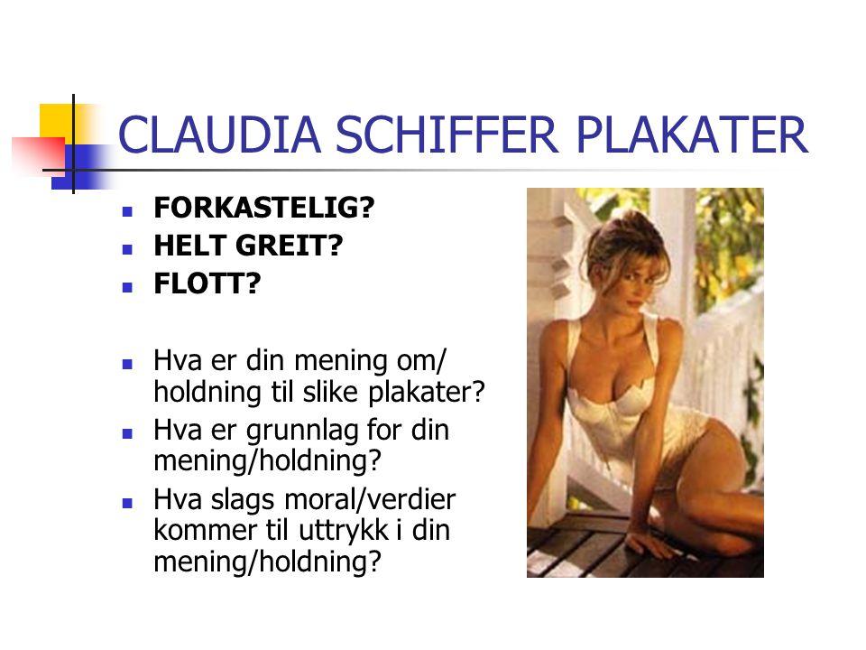 CLAUDIA SCHIFFER PLAKATER FORKASTELIG.HELT GREIT.