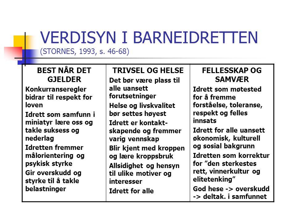 VERDISYN I BARNEIDRETTEN (STORNES, 1993, s.
