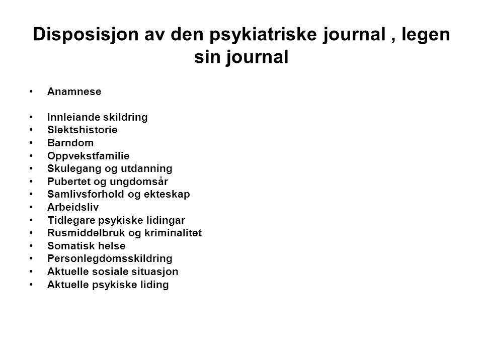 Livstidsprevalens (%) for psykiske lidelser i Oslo og USA (Malt, Rettesdøl og Dahl 2001 s.