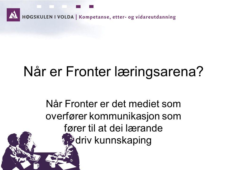 Når er Fronter læringsarena.