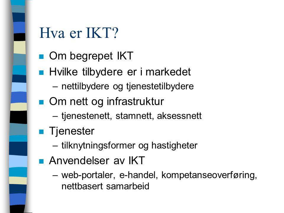 Hva er IKT.