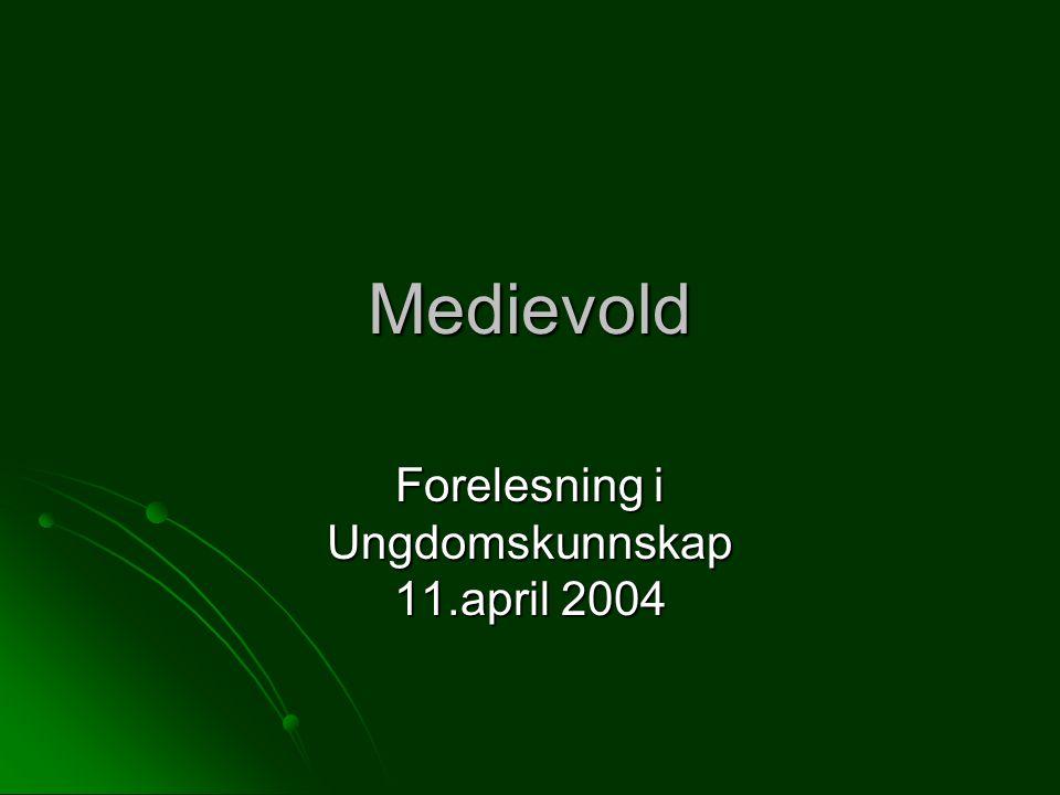 Medievold Forelesning i Ungdomskunnskap 11.april 2004