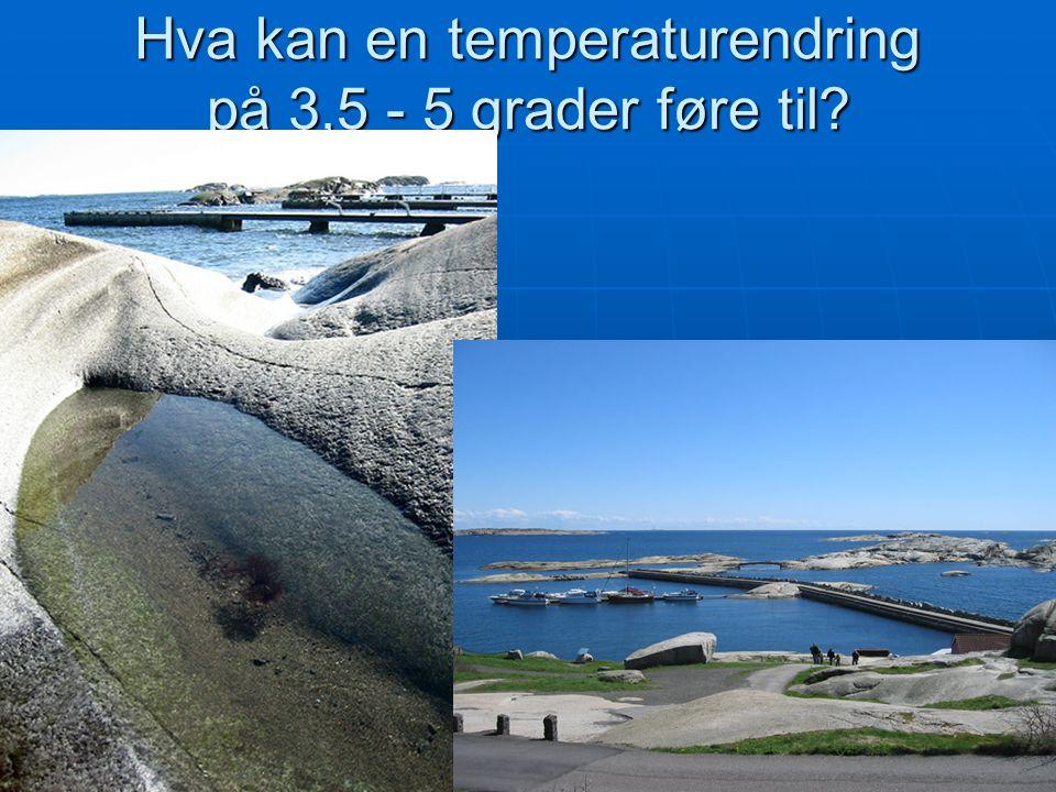 Hva kan en temperaturendring på 3,5 - 5 grader føre til