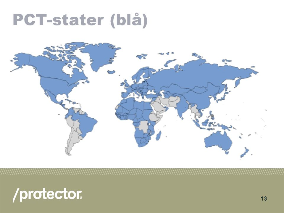 14 Europeisk patent (EPC) 34 medlemsstater (Norge ble medlem 1.