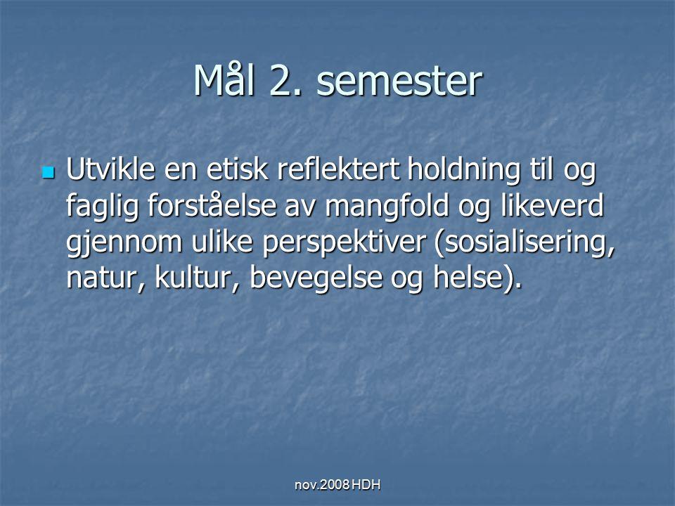 nov.2008 HDH 5.semester Individuell muntlig høring i pedagogikk Ekstern sensor Ekstern sensor Pedagogikkarakteren fra 3.