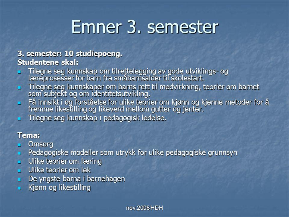 nov.2008 HDH Læringsmål 3.