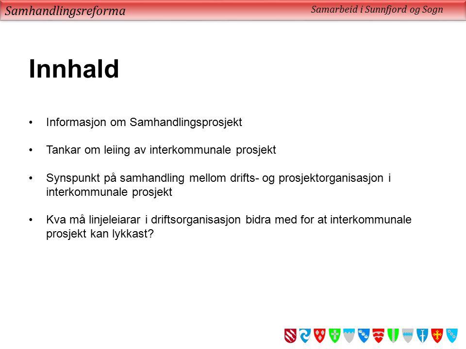 Samhandlingsreforma Samarbeid i Sunnfjord og Sogn Kva gjer til at eg trur vi vil lykkast.