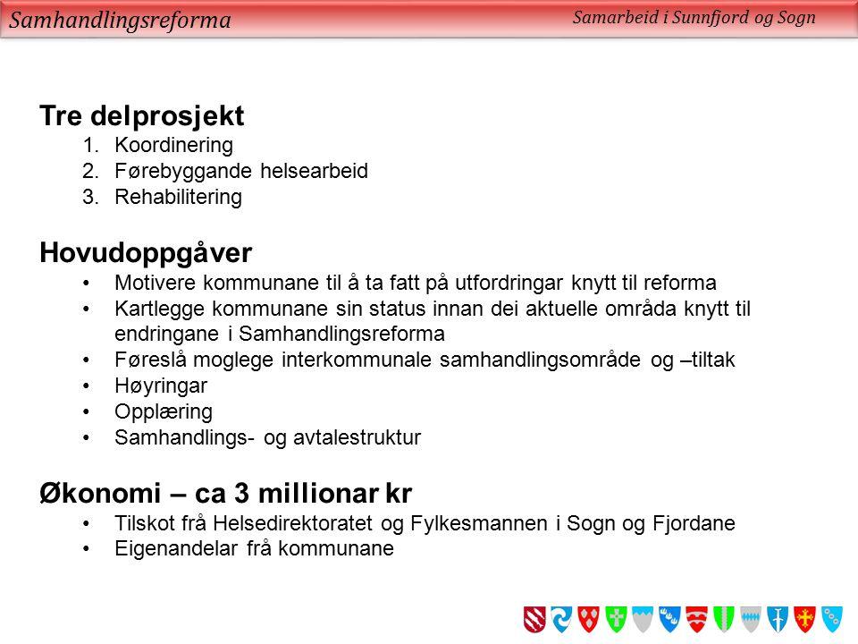 Samhandlingsreforma Samarbeid i Sunnfjord og Sogn Vanleg prosjektorganisering – eller.