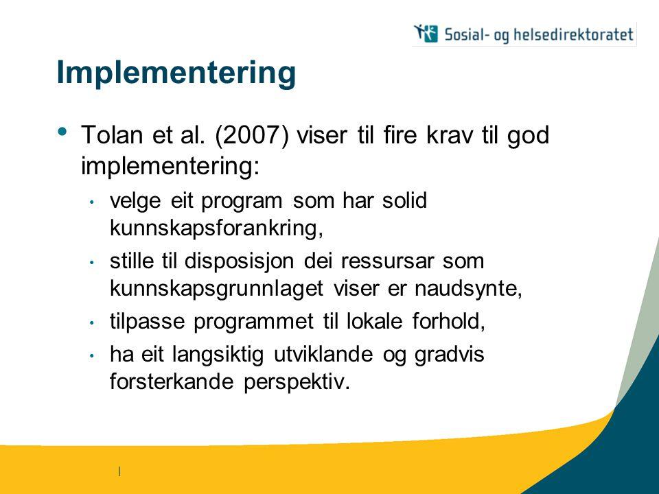 | Implementering Tolan et al.