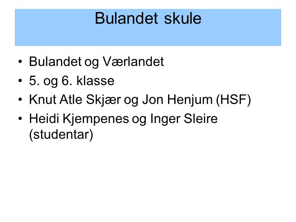Bulandet og Værlandet 5. og 6.