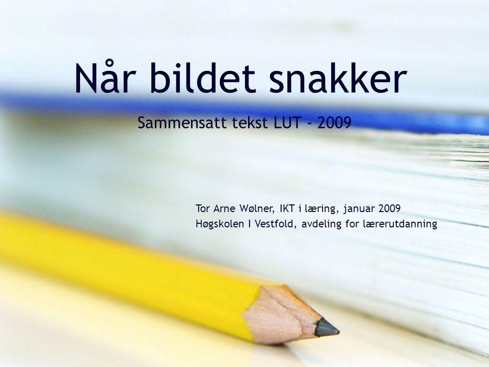 Når bildet snakker Sammensatt tekst LUT - 2009 Tor Arne Wølner, IKT i læring, januar 2009 Høgskolen I Vestfold, avdeling for lærerutdanning