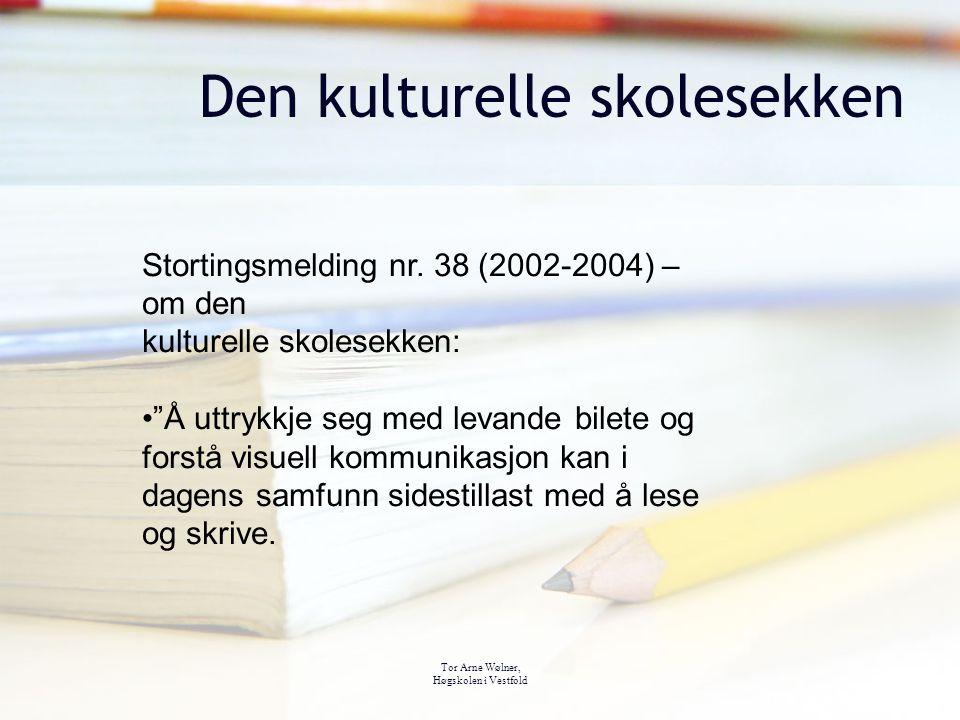 "Tor Arne Wølner, Høgskolen i Vestfold Den kulturelle skolesekken Stortingsmelding nr. 38 (2002-2004) – om den kulturelle skolesekken: ""Å uttrykkje seg"