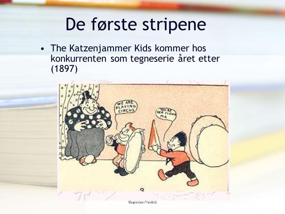 Tor Arne Wølner, Høgskolen i Vestfold De første stripene The Katzenjammer Kids kommer hos konkurrenten som tegneserie året etter (1897)