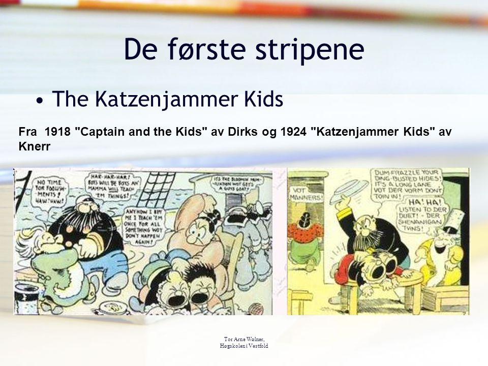 Tor Arne Wølner, Høgskolen i Vestfold De første stripene The Katzenjammer Kids Fra 1918