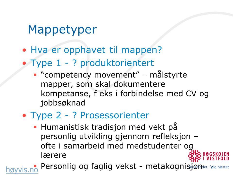 høyvis.no Mappetyper Hva er opphavet til mappen.Type 1 - .