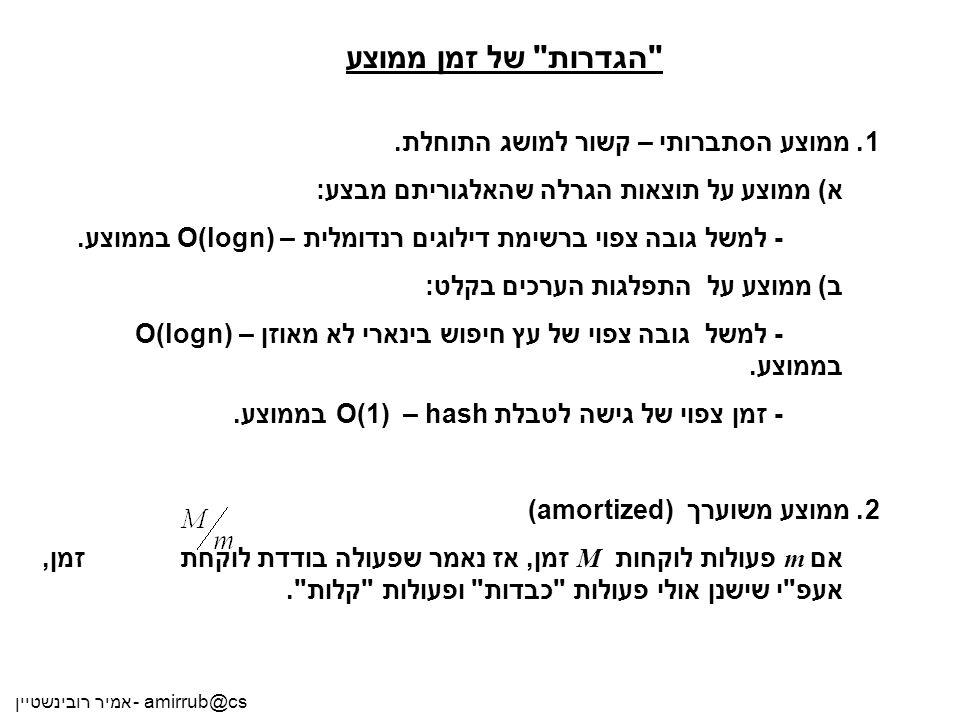 אמיר רובינשטיין - amirrub@cs
