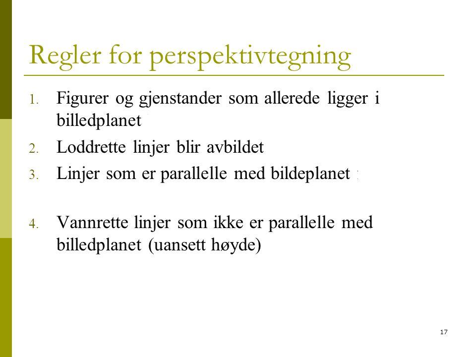 17 Regler for perspektivtegning 1.