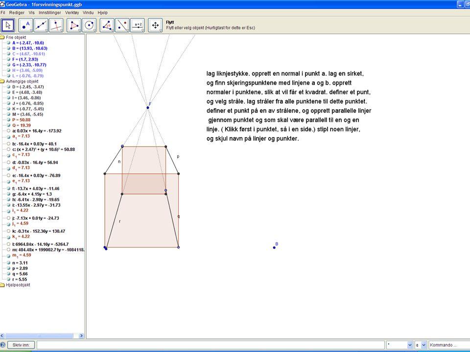 20 Oppgave  Lag en tegning i et-punktsperspektiv med papir, blyant, passer og linjal.