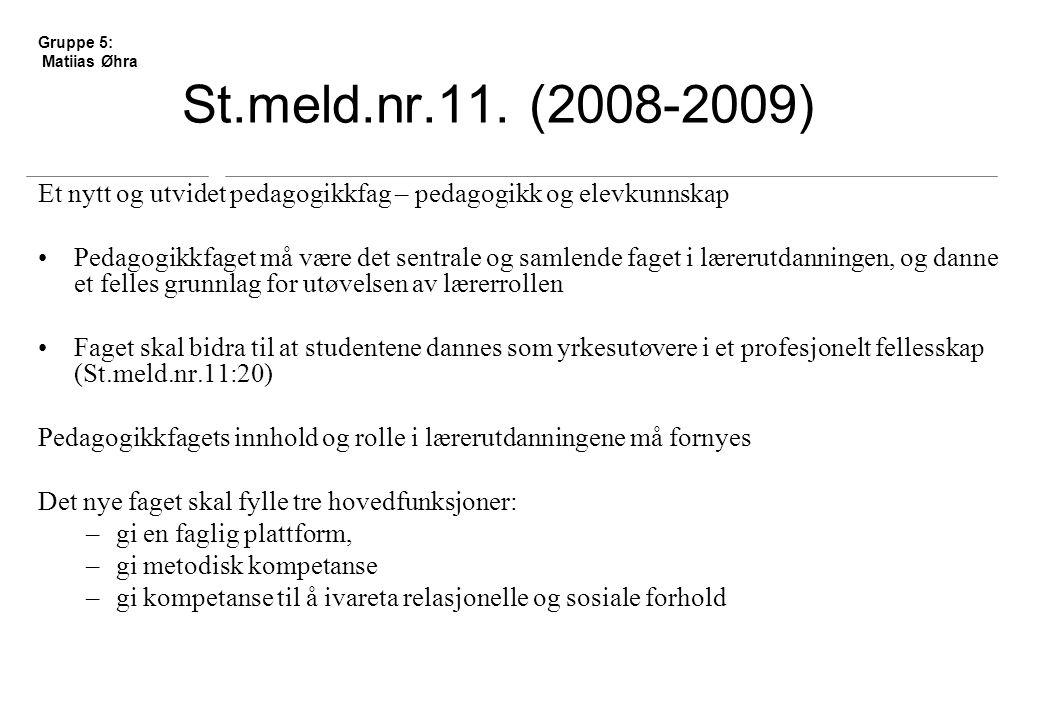 St.meld.nr.11.