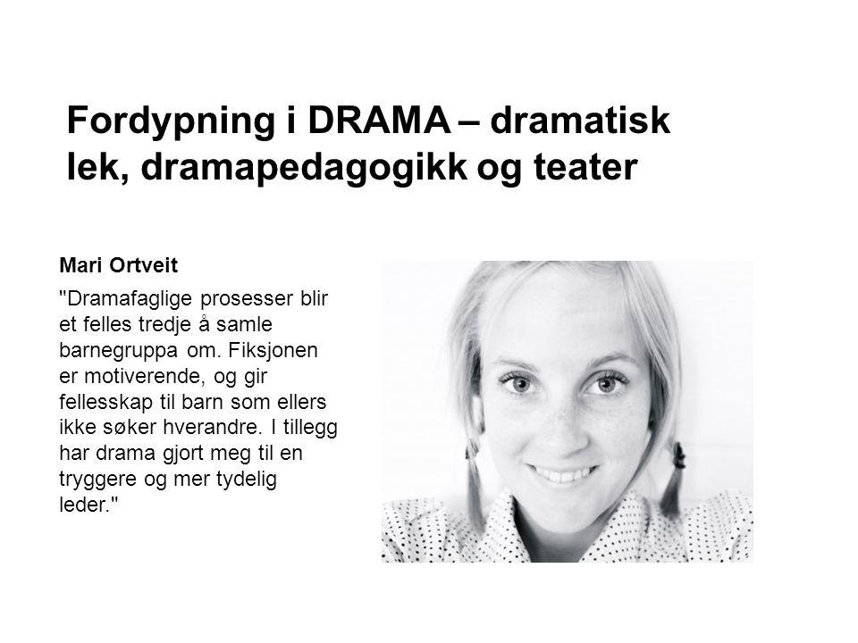Dramafaglige prosesser blir et felles tredje å samle barnegruppa om.