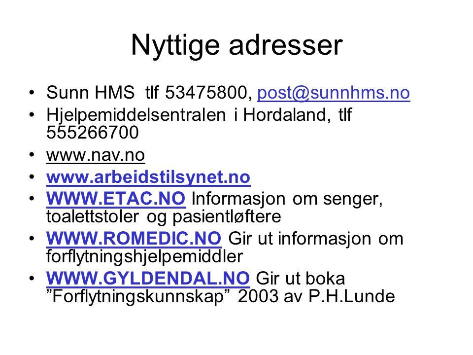 REFERANSAR Arbeidsmiljøloven Tungt og ensformig arbeid forskrift nr.