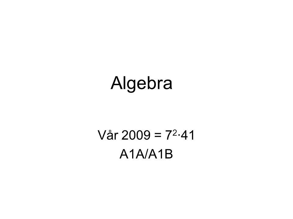 Flytte-bytte regelen Likhetstegnet tolkes ofte som ordre om å utføre en operasjon: 3 + 6 = ?4∙5 = .